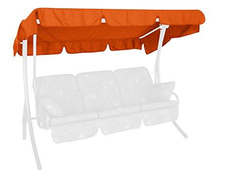 Angerer 808/11 Canopy for garden swing 210 x 145 cm, quality Swingtex, colour terracotta