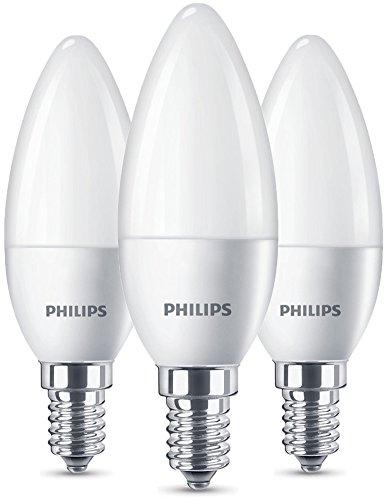 Philips Lampadine LED Candela, Attacco E14, 5.5W Equivalenti a 40W, 2700K, 2 Pezzi