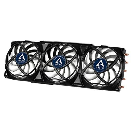 ARCTIC Accelero Xtreme III - Enfriador de Tarjetas Gráficas ultra silencioso con 3 ventiladores PWM x 92 mm, (hasta 300 W), multi-compatible con NVIDIA y AMD - Negro