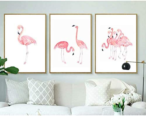 naayo Dealing full price reduction Pink Flamingo Decorative Popular product Painting Pic Hallway Wall Bedroom
