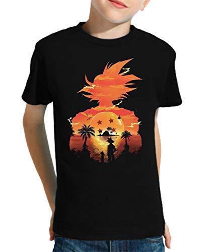 The Fan Tee Camiseta de NIÑOS Dragon Ball Goku Vegeta Bolas de Dragon Super Saiyan 073...