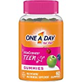One A Day VitaCraves Teen for Her Multivitamin Gummies, Supplement with Vitamin A, Vitamin C, Vitamin D, Vitamin E and Zinc for Immune Health Support* & More, 60 Count