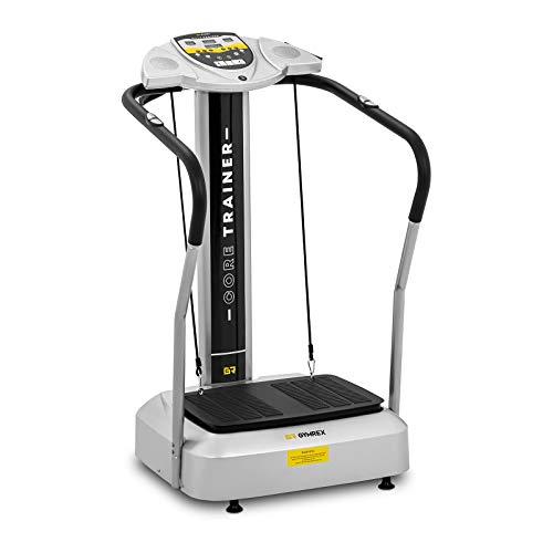 Gymrex Aparato De Vibración para Fitness Plataforma Vibratoria GR-VP-200S (Carga Máxima 150 kg, Amplitud De Vibración: 8 mm, Superficie De 535 x 375 mm)