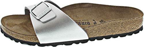 BIRKENSTOCK Madrid schmal 040413(Silber) Größe 39 EU