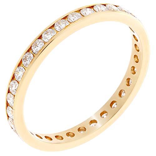 Preisvergleich Produktbild Orphelia Damen-Ring 750 Gelbgold Diamant (0.85 ct) weiß Rundschliff Gr. 52 (16.6) - RD-3407 / 52