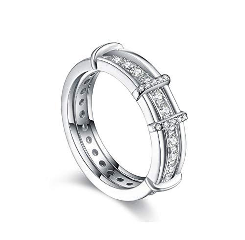 S925 sterling zilveren ring afneembare zirkoon ring heren en dames koppel creatieve ring geschikt voor huwelijksgeschenken,No. 7
