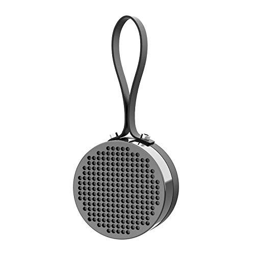 QAZW Altavoz Bluetooth Inalámbrico Radio de Ducha Impermeable HD Microfono Manos Libres Altavoz de Ducha hasta 6 Horas de Reproducción para Fiestas, Piscina, Playa, Viajes,Black