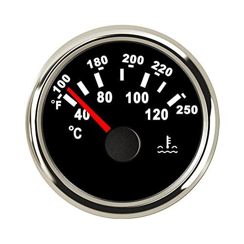 Jauge de température de l'eau au mètre 40-120℃ 52mm 9-32V avec rétroéclairage