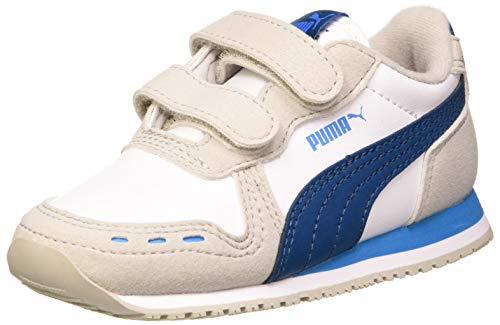PUMA Unisex Baby Cabana Racer Sl V Inf Sneaker, Mehrfarbig (Puma Black-Puma White-Dragon Fire), 26 EU