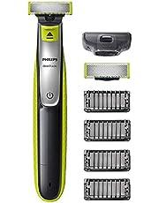 Philips OneBlade Face - Trimma, styla och raka - För alla skägglängder - 4 stubbkammar med klickfäste - 60 minuters användningstid - Våt och torr användning - Rakar bort ditt skägg, inte din hud - QP2530/30