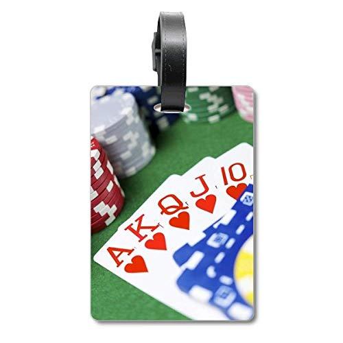 Flush Hearts Gioco d'azzardo Poker Foto Valigia Borsa Tag Bagaglio Carta Appeso Scutcheon Etichetta
