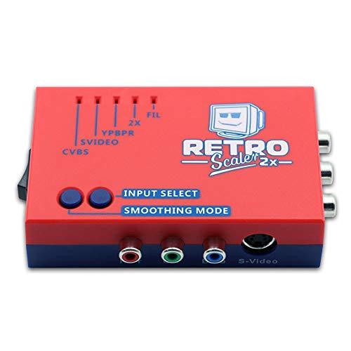 Woorea RetroScaler2x Convertidor A/V A HDMI y Duplicador de Línea para Consolas de Juegos Retro PS2/N64/NES/Dreamcast/Saturn/MD1/MD2