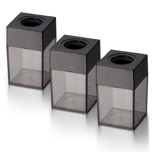 OfficemateOIC Small Clip Dispenser, Smoke/Black, 3-Pack (93693)