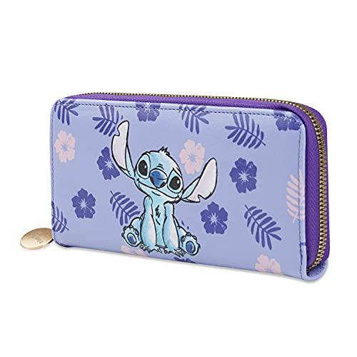 Disney Geldbörse Damen, Stitch Portemonnaie Damen, Geldbeutel Damen