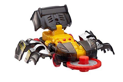 Screechers Wild  Level 1 Nightweaver Flipping Morphing Toy Vehicle 3quot x 1quot Black