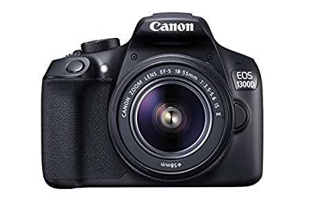 Canon EOS 1300D DSLR Camera with EF-S18-55 IS II F3.5-5.6 Lens - Black (Reacondicionado)