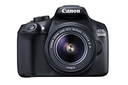 Canon EOS 1300D DSLR Camera with EF-S18-55 IS II F3.5-5.6 Lens - Black (Reacondicionado)