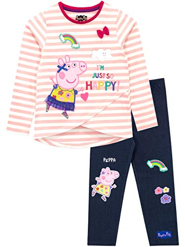 Peppa Pig - Conjunto de Top y Leggings para niñas - Peppa - Multicolor - 4-5 Años