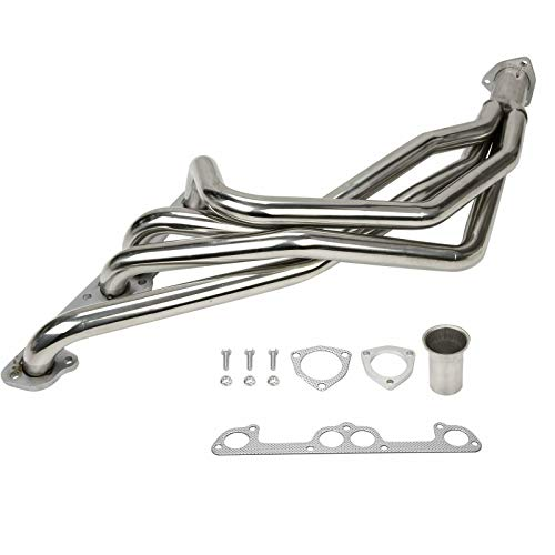 BETTERCLOUD Performance Long Tube Exhaust Header Manifold System Kit Fit or 76-83 Chevy LUV & 81-92 Isuzu Pickup Truck 1.8L/2.0L/2.3L 4-Cylinder