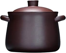 Cooker Pot Casserole Chinese Zisha casserole handmade cookware made of ceramic lilac clay with lid lilac 4.23