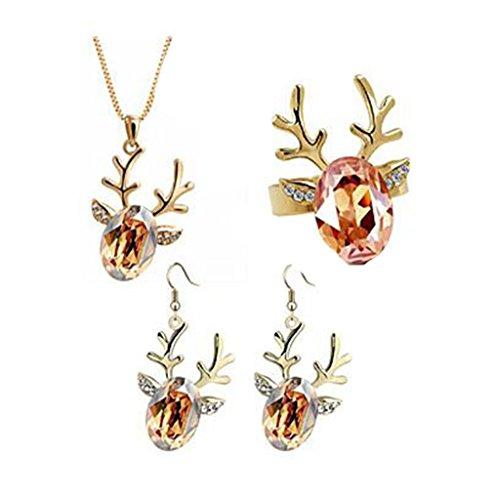 GYJUN Bijoux Colliers décoratifs / Boucles d'oreille / Anneaux Mariage / Soirée / Décontracté Cristal 1set , golden