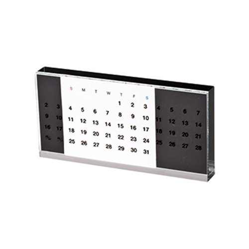 (マークレススタイル)MarklessStyle iFデザイン賞受賞 アクリル万年カレンダー (ブラック)