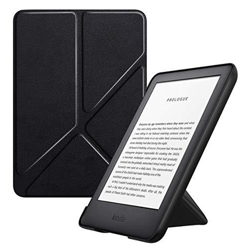 MoKo Funda Compatible con Kindle 10th Generation 2019 Release, Standing Origami Slim Shell Funda con Auto Sueño/Estela Compatible con Kindle 10th Generation 2019 Release - Negro