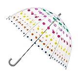 HUBLEVEL Paraguas de Burbuja Transparente para NiiOs Sombrillas Infantiles para Hombres y Mujeres Paraguas de Moda de Manejar Largo Transparente