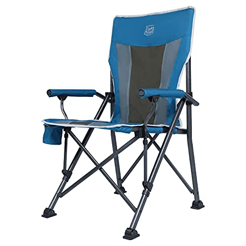 TIMBER RIDGE Ovesized Folding Camping Chair with Padded Hard Armrest, High Back Lawn Chair with Cup Holder, Portable...