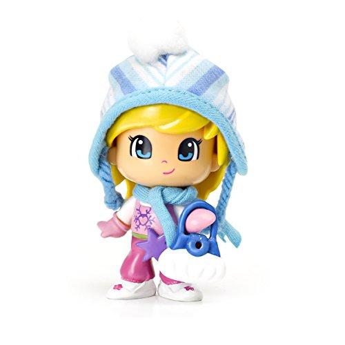 Pinypon - Figuras Nieve, gorrito, Color Azul y Blanco (Famosa 700010264)