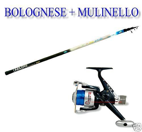 linea-effe Kit Bolognese da 4 MT Delta Azione 5-20 GR. + N° 1 Mulinello Shiver 30 + Filo