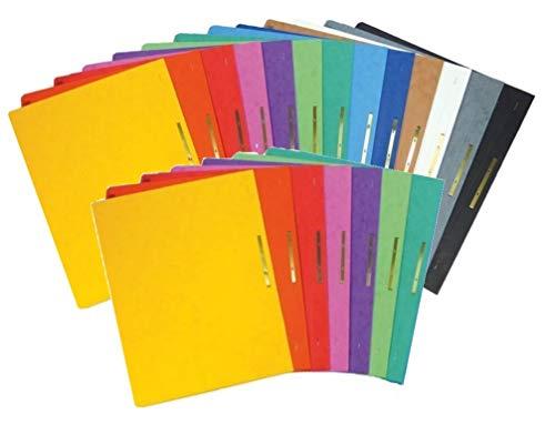20 Brunnen extra stabile Schnellhefter aus Colorspan | Kartonschnellhefter in 13 intensiven Farben extra stark 375g (20er Pack, Alle Farben)