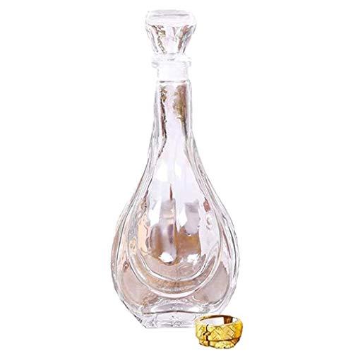 Whisky Decanter Decanter Jarra de Whisky, Licor, Vodka, Vino o Bourbon, 750Ml HMLIFE