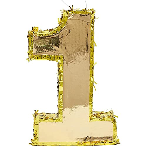 Number 1 Gold Foil Pinata