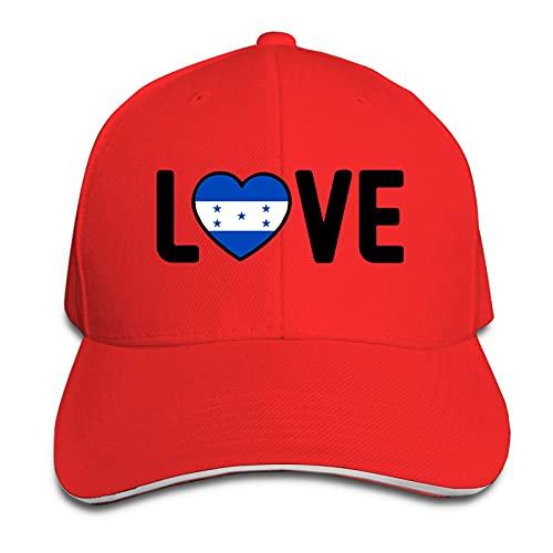 XCNGG Gorra para Hombres y Mujeres, Honduras Pride Love Gorra Tipo sándwich con Pico Ajustable Casquette Sombrero de Vaquero