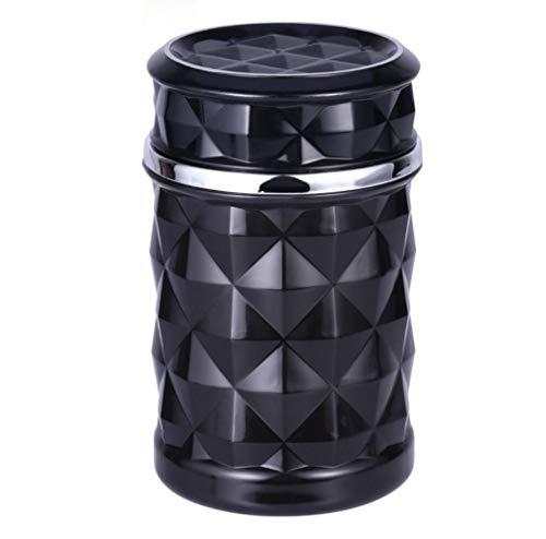 Hycy Porte-Cendres Automatique sans Fumée De Cendrier De Voiture avec La Lumière Bleue De LED pour Le Support De Tasse De Voiture,Black