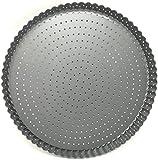 Space Home - Molde de Horno Rizado Perforado - Base Desmontable - Recubrimiento Antiadherente - Diámetro 28 cm