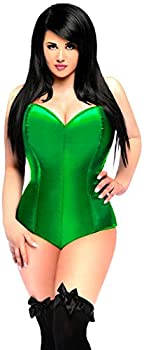 Daisy Corsets Women s Lavish Strapless Corset Romper Green Medium