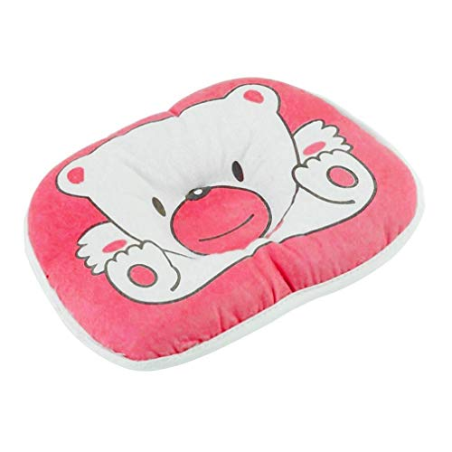 Draag Patroon Kussen Pasgeboren Baby Baby Ondersteuning Kussen Voorkom Platte Hoofd (Roze)