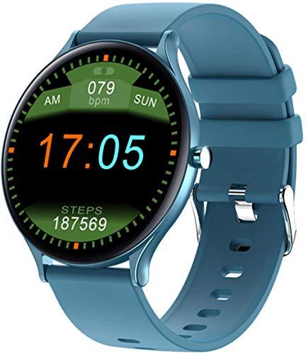 Pulsera Ultrafina de los Deportes del dial de la Pantalla HD del Monitor del Ritmo cardíaco del Reloj Elegante de Las señoras para Android iOS-B