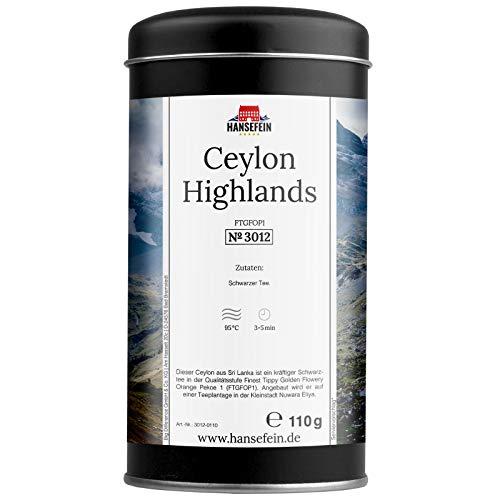 Hansefein Ceylon Highlands Schwarzer Tee FTGFOP1 110g in Aromadose