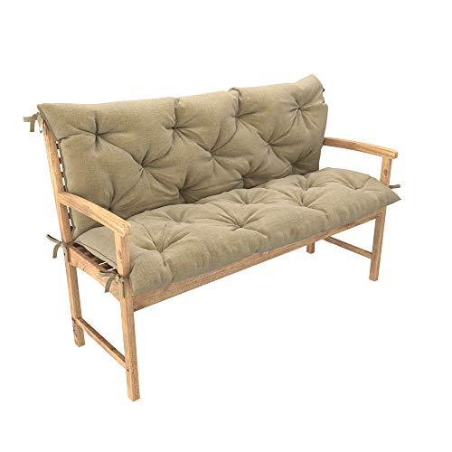 Cuscino trapuntato per panca dondolo altalena elegante e comodo per giardino terazza ampia scelta di colori e dimensioni
