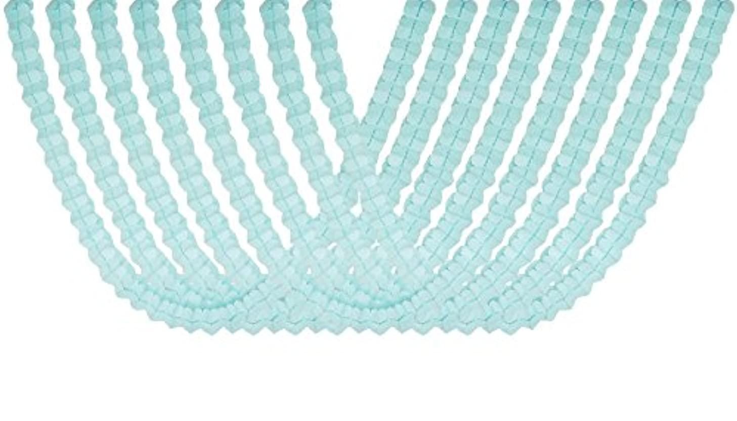Four Leaf Tissue Paper Hanging Flower Garland for Birthday Party Supplies, Baby Shower Decorations and Streamers Pack of 8 (Light Blue)