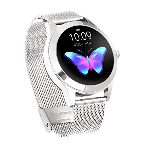 HJKPM Ladies Moda Smartwatch, Período Fisiológico De Las Mujeres Reloj Inteligente con Podómetro Monitoreo del Sueño Período Fisiológico Recuerde Los Deportes 15 Funciones,C3