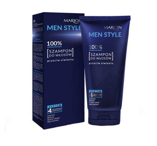 MARION MEN STYLE HERREN Anti-Grau Haartönung Shampoo mit Biotin, Guarana 150 g