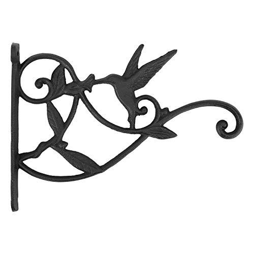 Lewondr Hanken für Blumenampel, Retro Kolibri Schmiedeeisen Wandhaken Aufhänger Halterung mit Schrauben für Blumentöpfe Pflanzen Hängekörbe, Garten Balkon Außen Dekor
