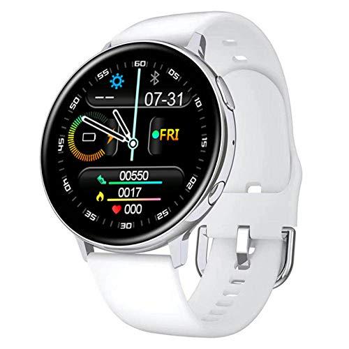 ZEIYUQI Reloj Inteligente,Llamada Bluetooth 1.3 Pulgadas IPS 240x240 Píxeles Full Touch,Modo Multideportivo/Podómetro/Cronómetro,Reproducción De Música,Hommie Smartwatch,White