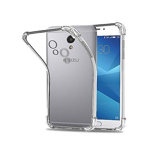 REY Funda Anti-Shock Gel Transparente para MEIZU M5 Note, Ultra Fina 0,33mm, Esquinas Reforzadas, Silicona TPU de Alta Resistencia y Flexibilidad