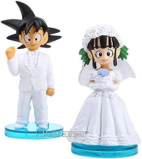 Anime Dragon Ball Z Son Goku & ChiChi Wedding PVC Figures Toys Dolls 8cm set of 2