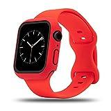baklon Bracelet + Coque Compatible avec Apple Watch Bracelet 38mm 42mm 40mm 44mm, Bracelets en...